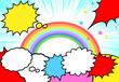 吹き出し 虹