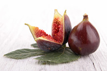 fresh fig and leaf