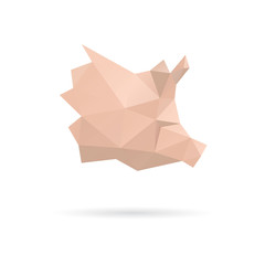 Pig head abstract isolated on a white backgrounds