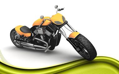 Moto custom 3D moderna