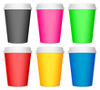 plastic coffee cup set