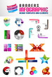 Vector set of geometrical banners and templates