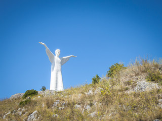 Christ the Redeemer of Maratea. Basilicata. italy