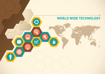 World wide technology poster.