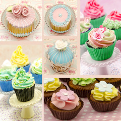 Mural de cupcakes