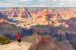 Unidentified person look at the Grand Canyon