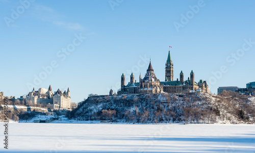 Foto op Canvas Canada Parliament Hill in winter in Ottawa, Ontario, Canada