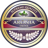 Aronia Drink Vintage Label