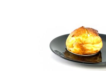 choux cream on white background