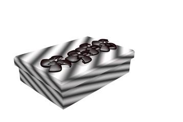 Paket Design  schwarz weiss