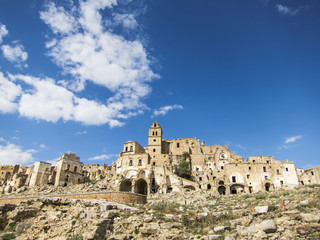 Craco, famous ghost town in basilicata, italy