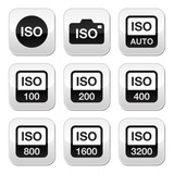 ISO - camera film speed standard buttons set
