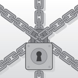 Lock pad on several chains