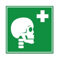 Cartel sanitario simbolo traumatologia