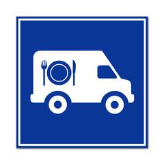 Señal furgoneta de catering