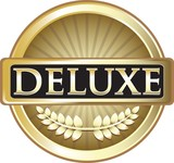 Deluxe Gold Vintage Label