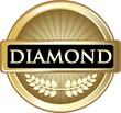 Diamond Gold Vintage Label