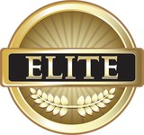 Elite Gold Vintage Label