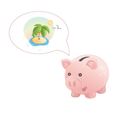 piggy bank dream a rest