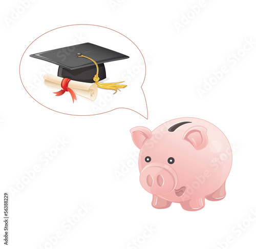 piggy bank dream a graduation
