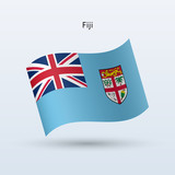 Fiji flag waving form. Vector illustration.