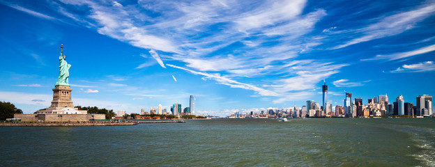 The Statue of Liberty, New York and Jersey City