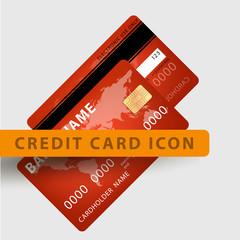 vector illustration of detailed credit card visa