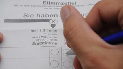 Stimmzettel  Bundestagswahl Wahlzettel Wahl Landtagswahl