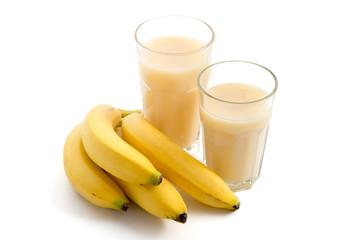 Bananensaft und Bananen
