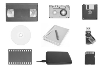 World's data storage in black and white