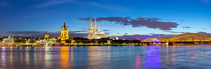 Cologne city skyline panorama, Germany
