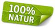 Sticker 100% Natur mit Blattstruktur