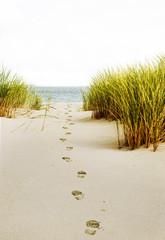 Fußspur in den Dünen