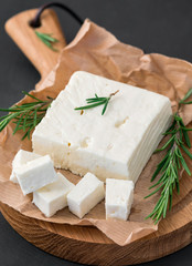 Delicious Greek feta cheese and rosemary