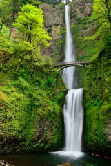 Multhnomah-falls. USA. Oregon state.