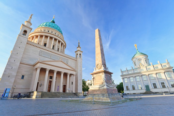 Nikolai Church and old town hall of Potsdam city, Germany