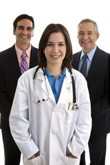 Female Doctor with Executives