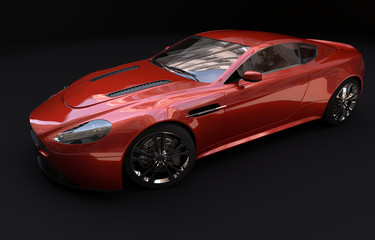 Luxus Wagen von oben