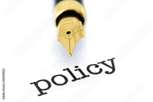 Policy and fountain pen