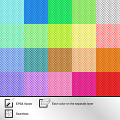 Set of twenty colorful  seamless textures