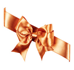 sienna bow made from silk ribbon