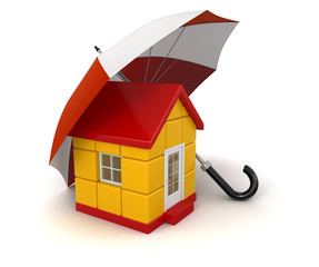 Umbrella and House (clipping path included)