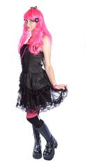Manga anime Girl mit pinken Haaren
