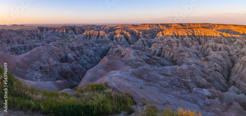 Badlands South Dakota at Sunrise