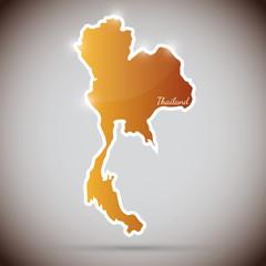 vintage sticker in form of Thailand