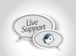 live support message communication concept