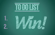 to do list win concept illustration design