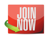 join now sticker illustration design