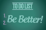 to do list be better concept illustration design
