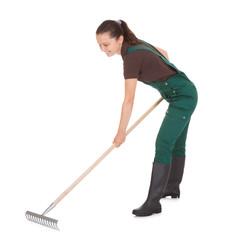 Female Gardner With Gardening Tools